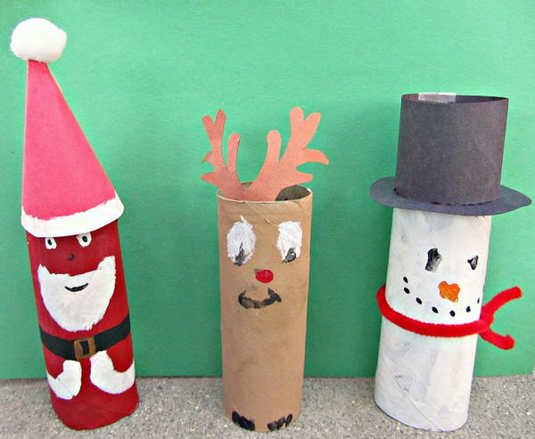 Toilet Paper Tube Christmas Crafts  150 Homemade Toilet Paper Roll Crafts Hative
