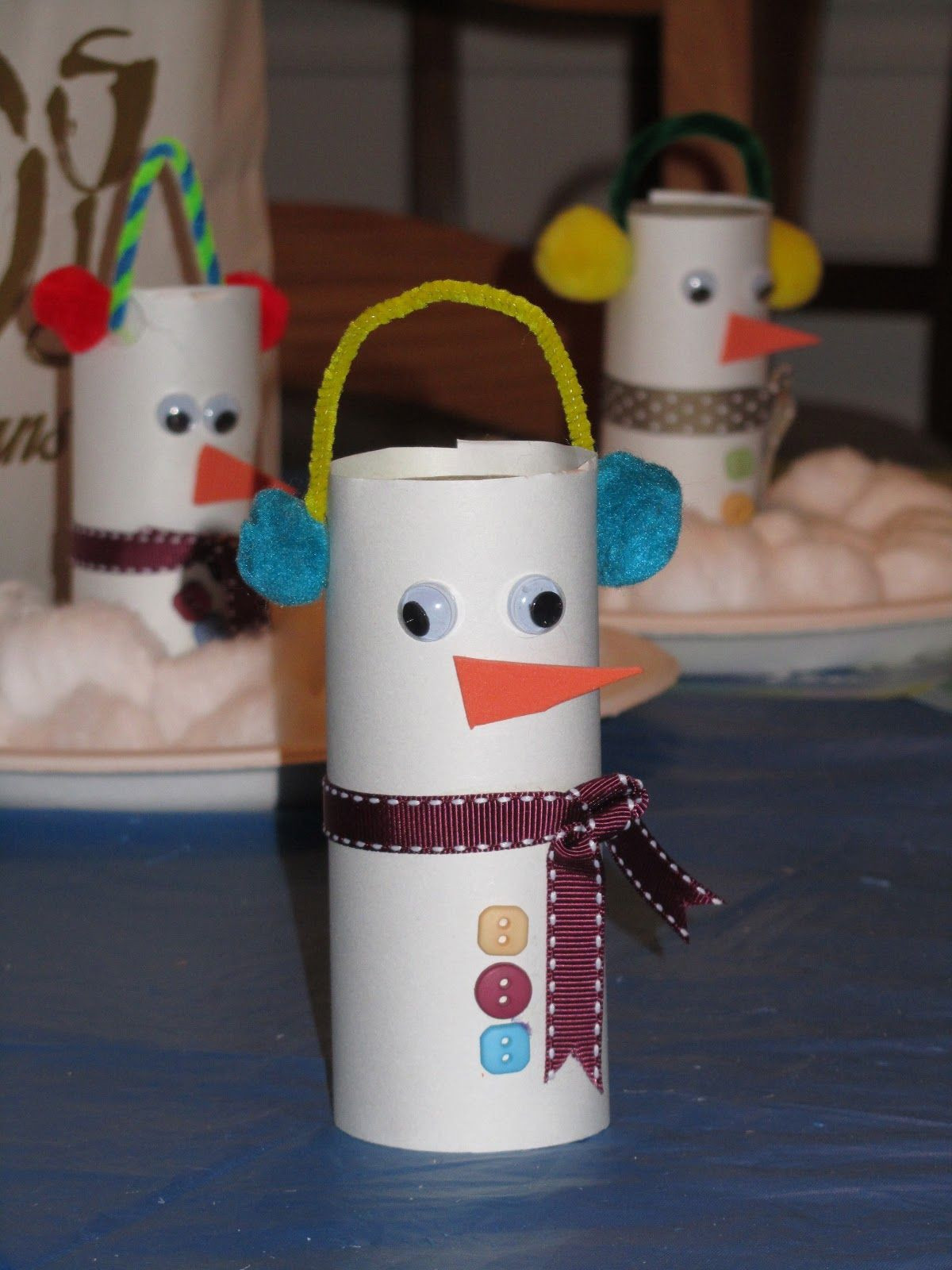 Toilet Paper Tube Christmas Crafts  ROCmomma Toilet Paper Tube Snowman Craft