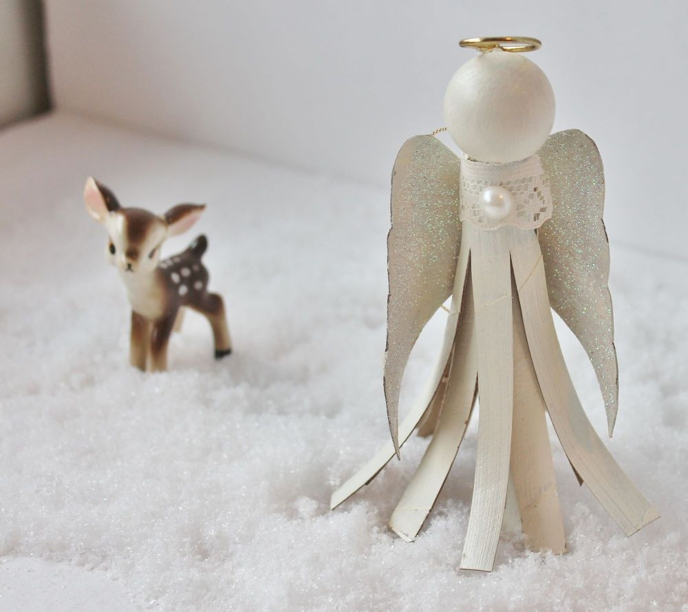 Toilet Paper Tube Christmas Crafts  Toilet Paper Tube Angel Ornament