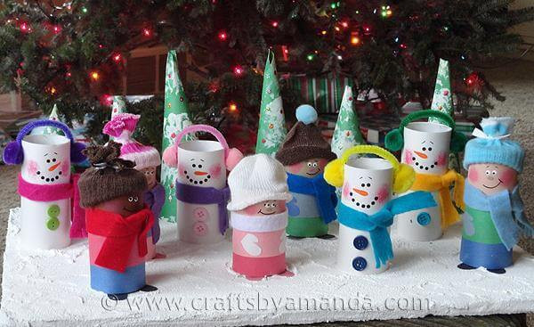 Toilet Paper Tube Christmas Crafts  28 Christmas Crafts Made From Toilet Paper Rolls