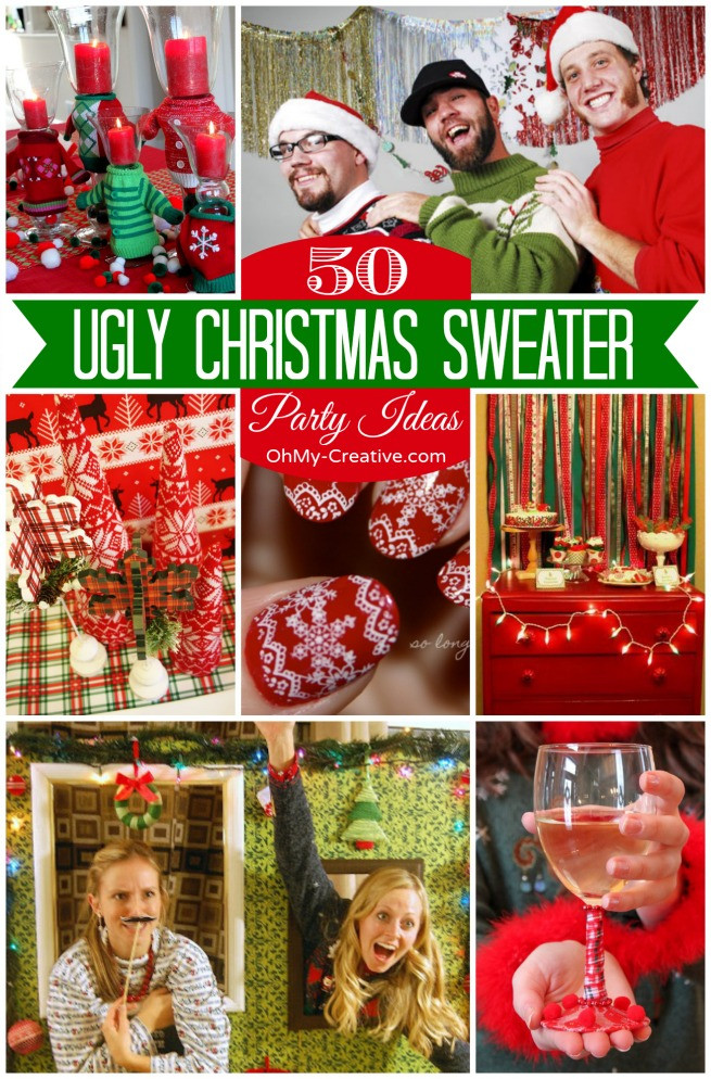 Ugly Christmas Sweater Party Ideas  15 Do It Yourself Ugly Christmas Sweaters Oh My Creative