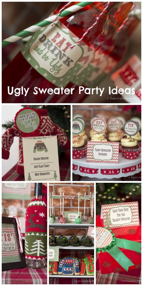 "Ugly Christmas Sweater Party Ideas  Holiday Christmas Christmas Holiday ""Vintage Ugly"