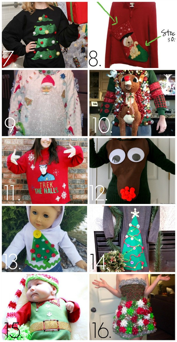 Ugly Christmas Sweater Party Ideas  32 DIY Ugly Christmas Sweaters C R A F T