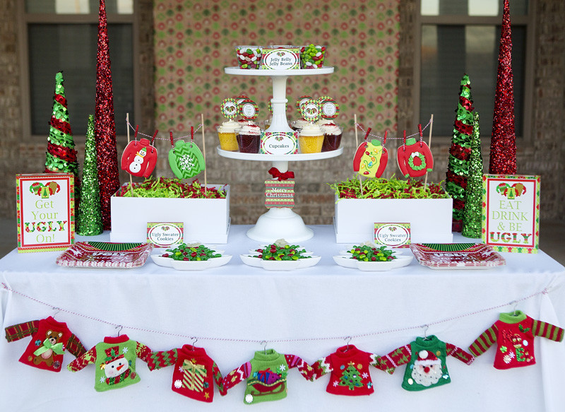 Ugly Christmas Sweater Party Ideas  Ugly Sweater Party Fun Tacky Sweater Christmas Party
