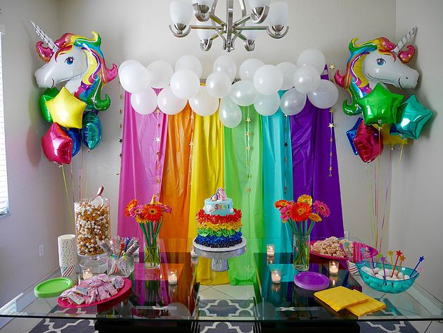 Unicorn And Rainbow Birthday Party Ideas  Best 25 Rainbow unicorn party ideas on Pinterest