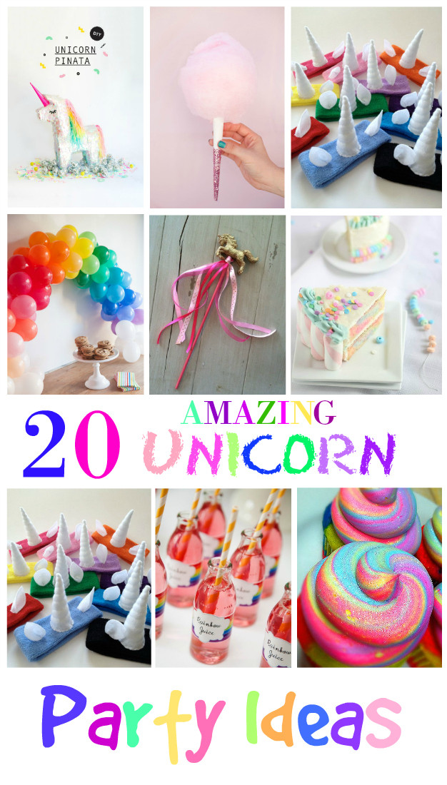 Unicorn And Rainbow Birthday Party Ideas  20 Amazing Unicorn Birthday Party Ideas for Kids