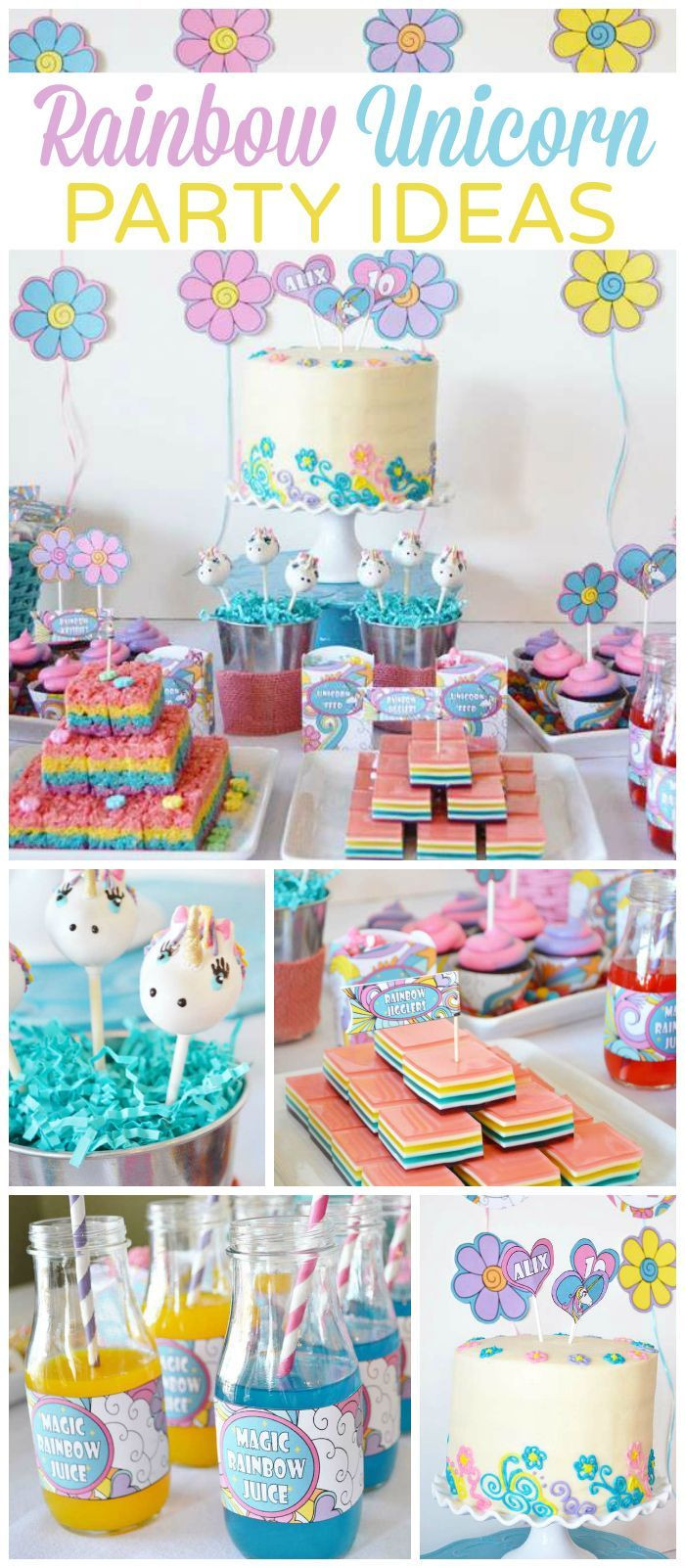 Unicorn And Rainbow Birthday Party Ideas  25 best ideas about Rainbow unicorn on Pinterest