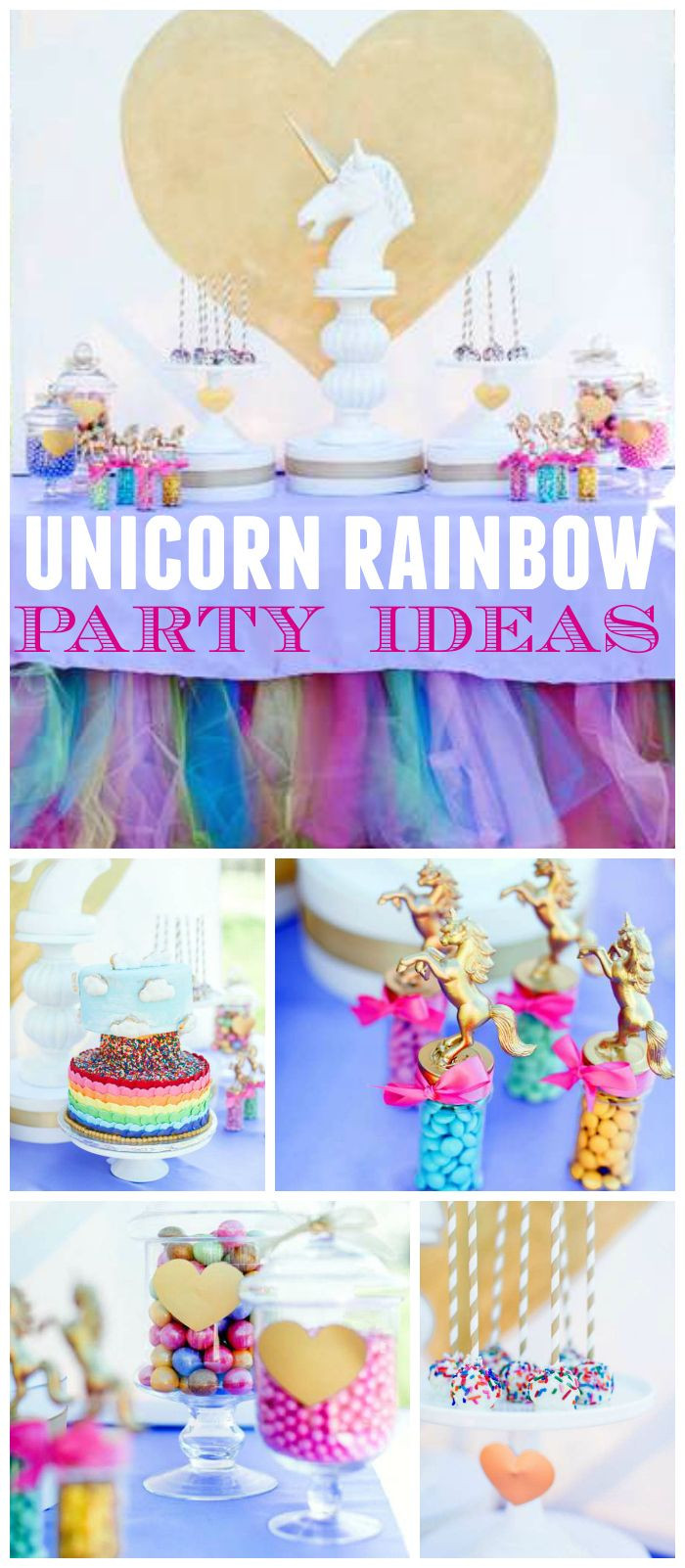 Unicorn And Rainbow Birthday Party Ideas  77 best images about Gwen s first birthday on Pinterest