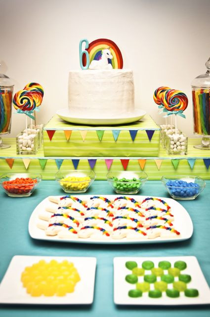 Unicorn And Rainbow Birthday Party Ideas  Kara s Party Ideas Unicorn Rainbow Birthday Party