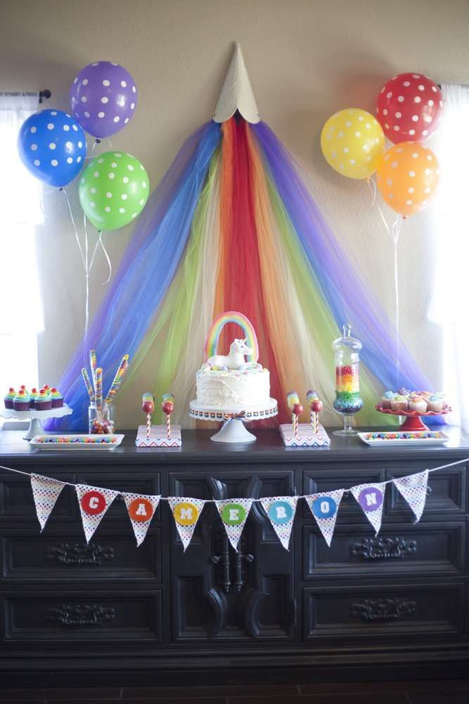 Unicorn And Rainbow Birthday Party Ideas  Rainbow Unicorn Birthday Party Ideas