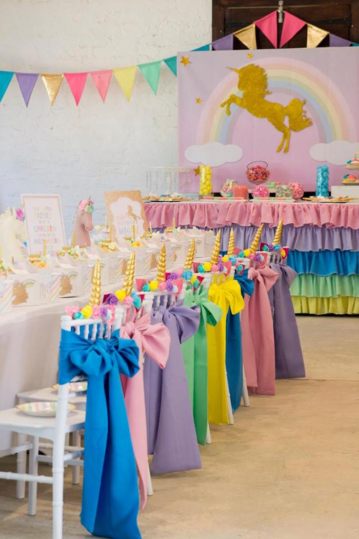 Unicorn And Rainbow Birthday Party Ideas  Kara s Party Ideas Pastel Rainbow Unicorn Birthday Party