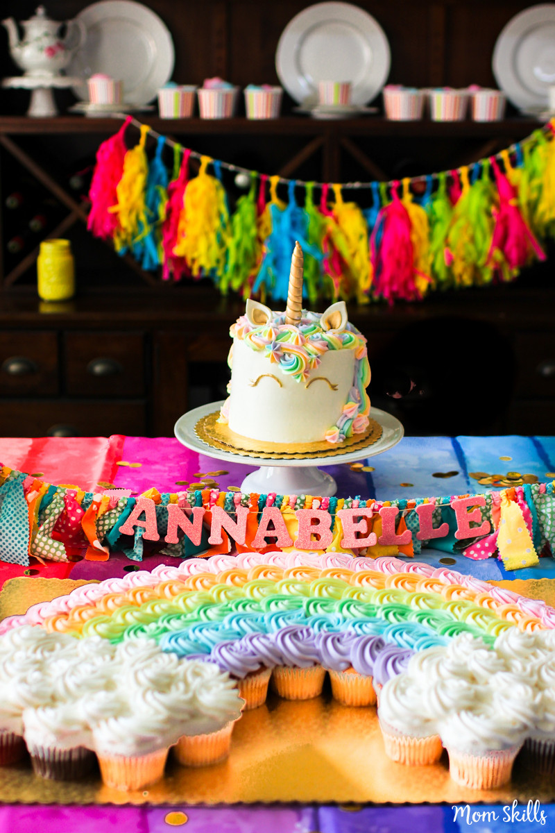 Unicorn And Rainbow Birthday Party Ideas  Unicorn Party Ideas Rainbows Galore and More
