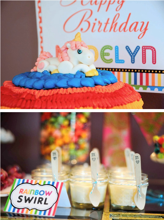 Unicorn And Rainbow Birthday Party Ideas  Kara s Party Ideas Rainbow Unicorn 7th Birthday Party