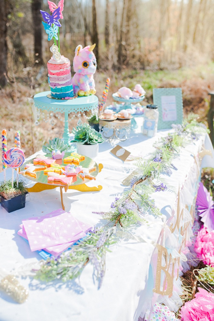 Unicorn And Rainbow Birthday Party Ideas  Kara s Party Ideas Magical Unicorns Fairies & Rainbows