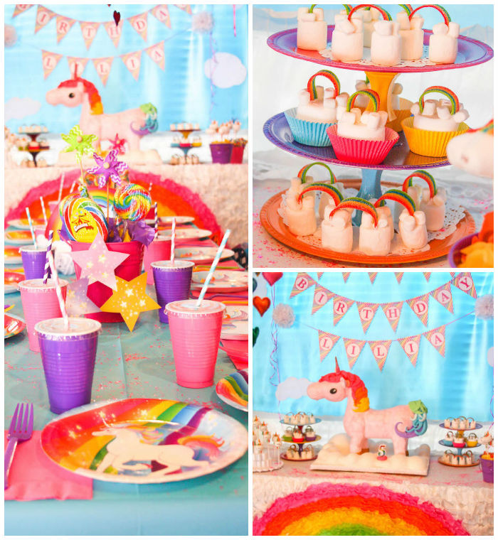 Unicorn And Rainbow Birthday Party Ideas  Kara s Party Ideas Rainbow Unicorn Birthday Party