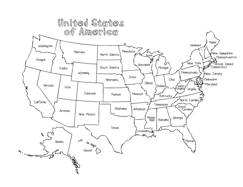 United States Coloring Pages For Kids  Coloring Pages