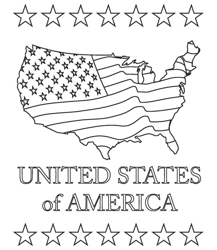 United States Coloring Pages For Kids  US Map Coloring Pages Best Coloring Pages For Kids