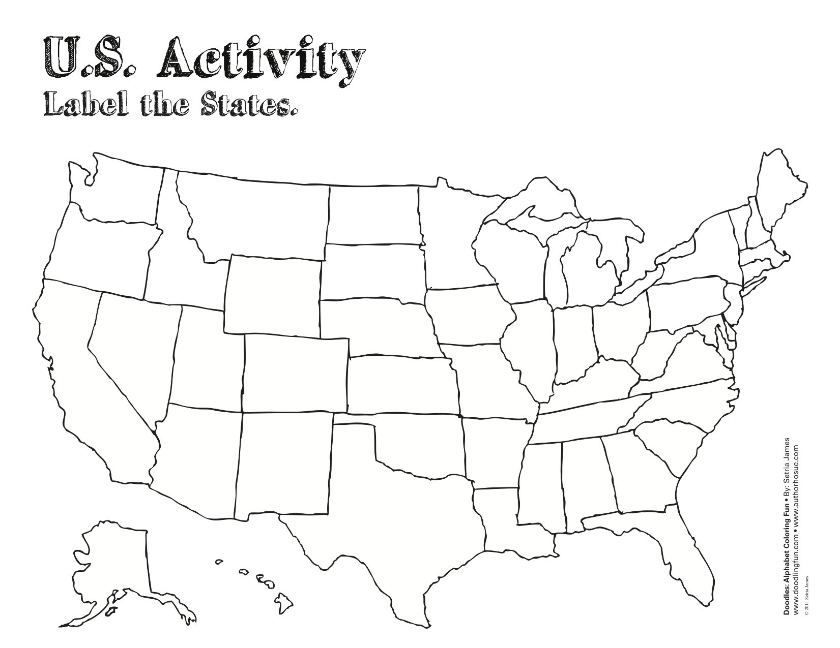 United States Coloring Pages For Kids  US Coloring Map