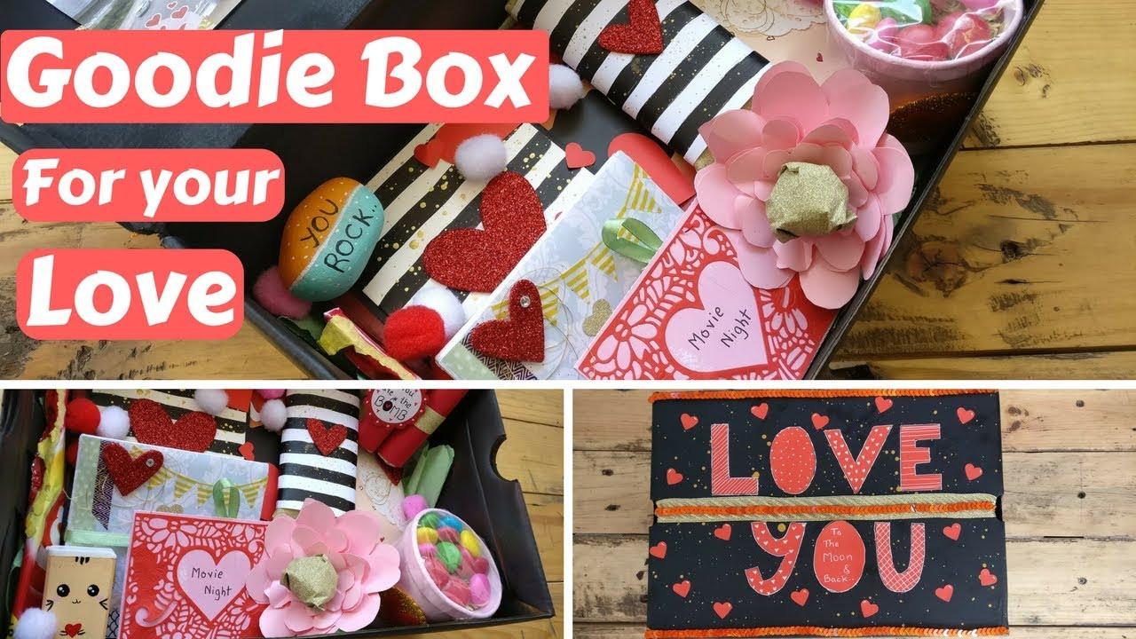 Valentine'S Day Gift Ideas For Girlfriend  DIY Valentine s day Birthday Gift Goo box Care package