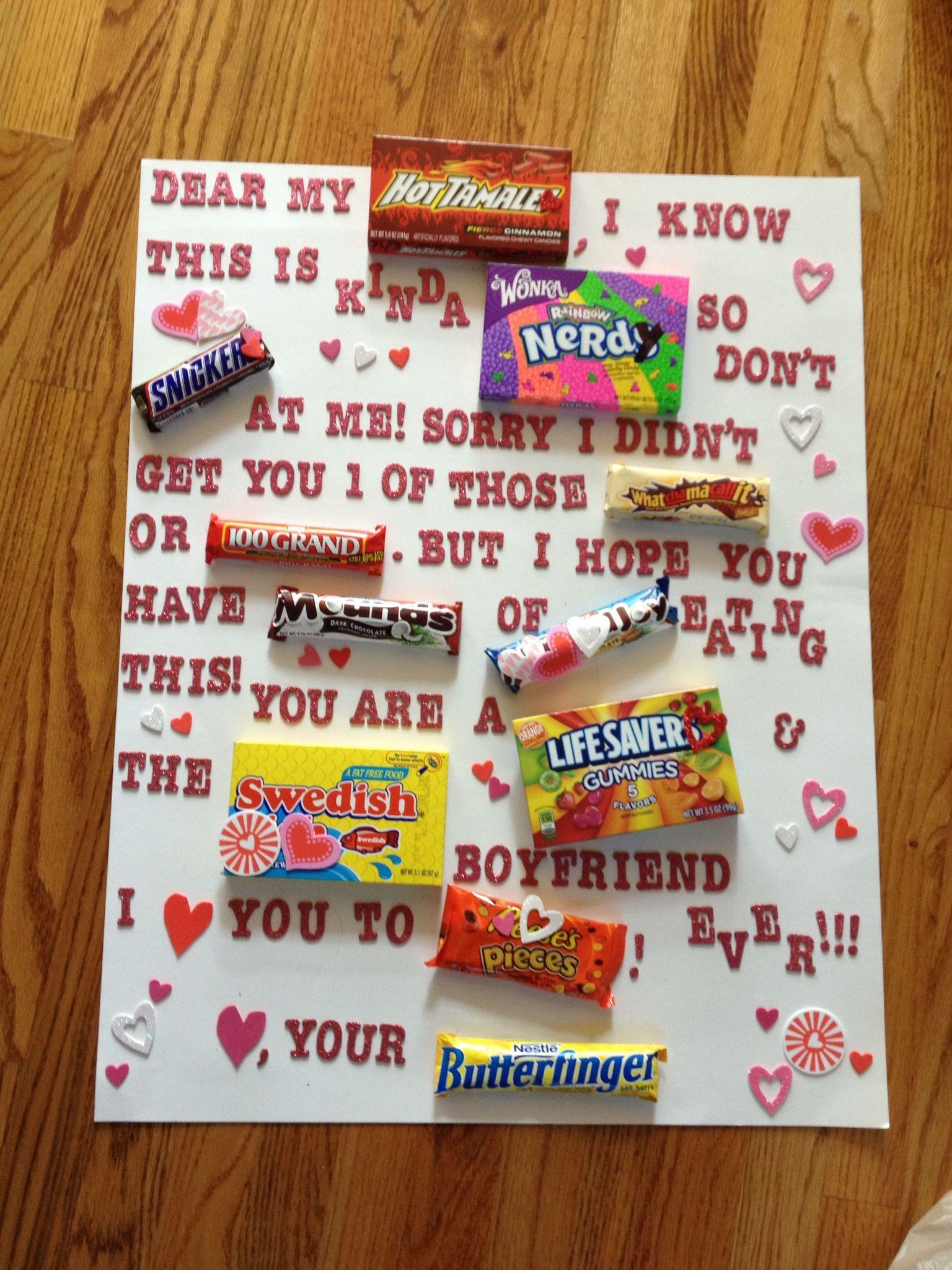 Valentines Gift Ideas For Boyfriends  What I made my boyfriend for Valentines day