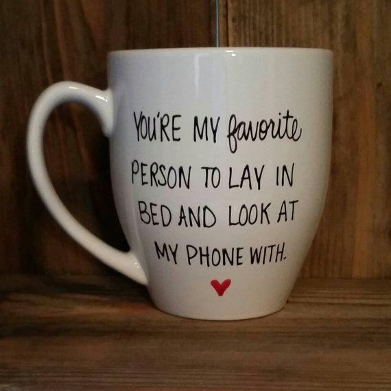 Valentines Gift Ideas For Husband  Funny mug love mug t for fiancee valentine s day