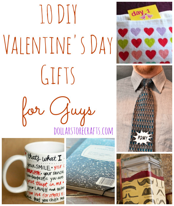 Valentines Gift Ideas For Husband  10 DIY Valentine s Day Gifts for Guys Dollar Store Crafts