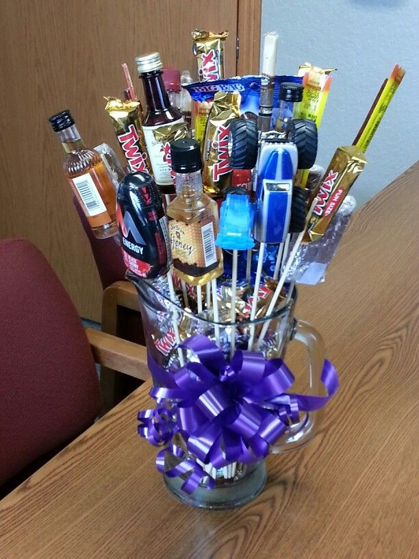 Valentines Gift Ideas For Men  Cute idea in lieu of flowers candy bouquets
