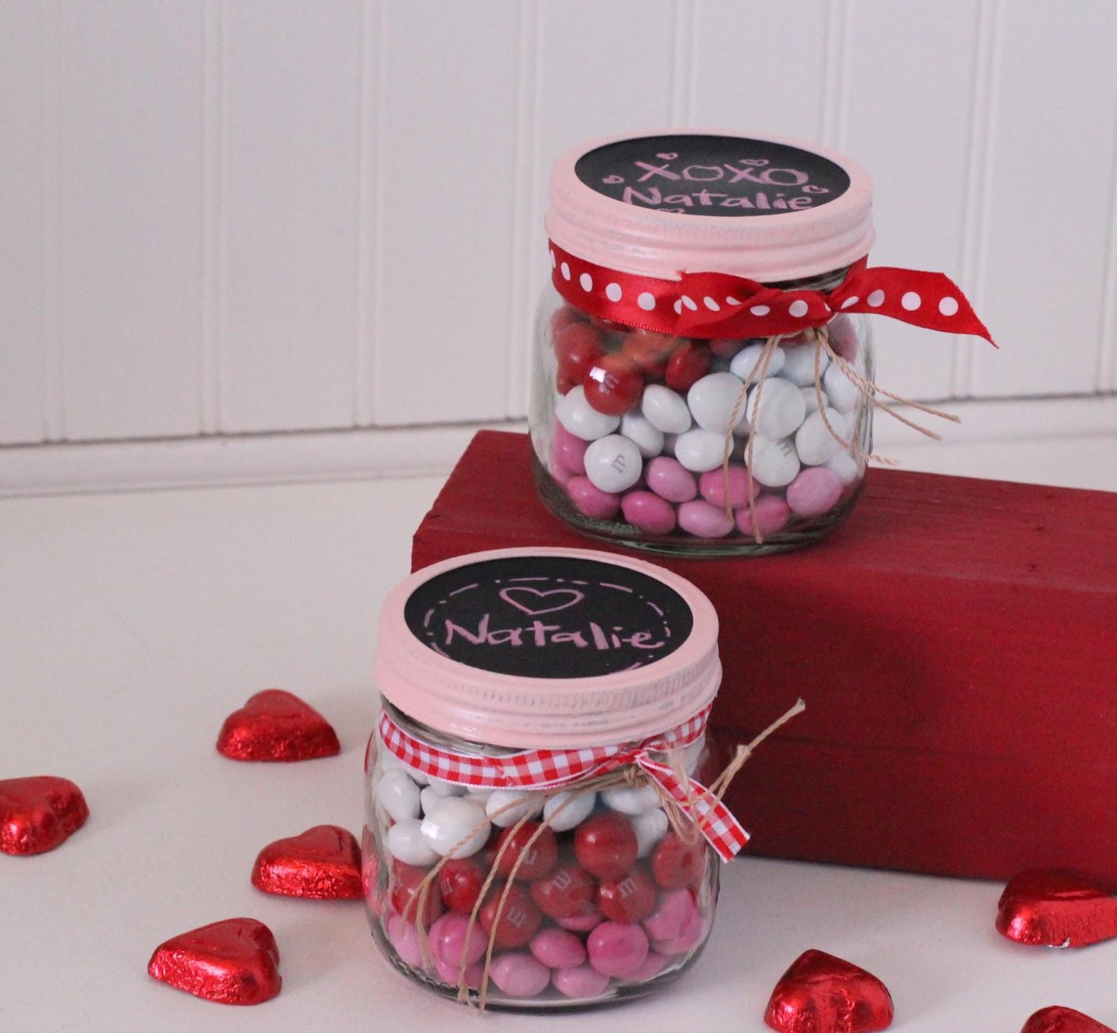 Valentines Gift Ideas Pinterest  Valentine s Idea Week Day 2 Layered Candy Mason Jars I