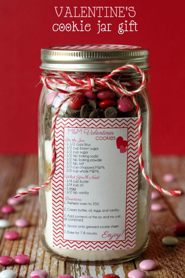 Valentines Gift Ideas Pinterest  Valentine s Cookie Jar Gift