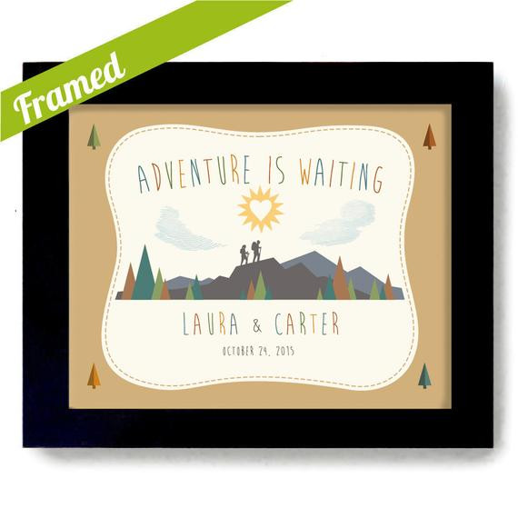 Wedding Gift Ideas For Outdoorsy Couple  Outdoorsy Couple Wedding Gift Nature Lovers Couples Gift