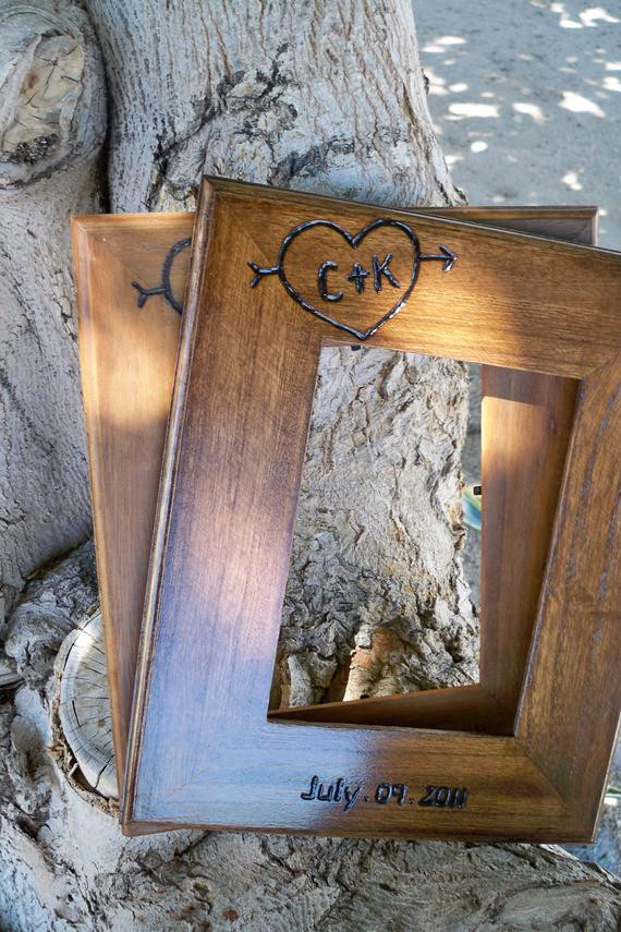 Wedding Gift Ideas For Outdoorsy Couple  Wedding t for parents couples 2 Personalized 5x7 Rustic