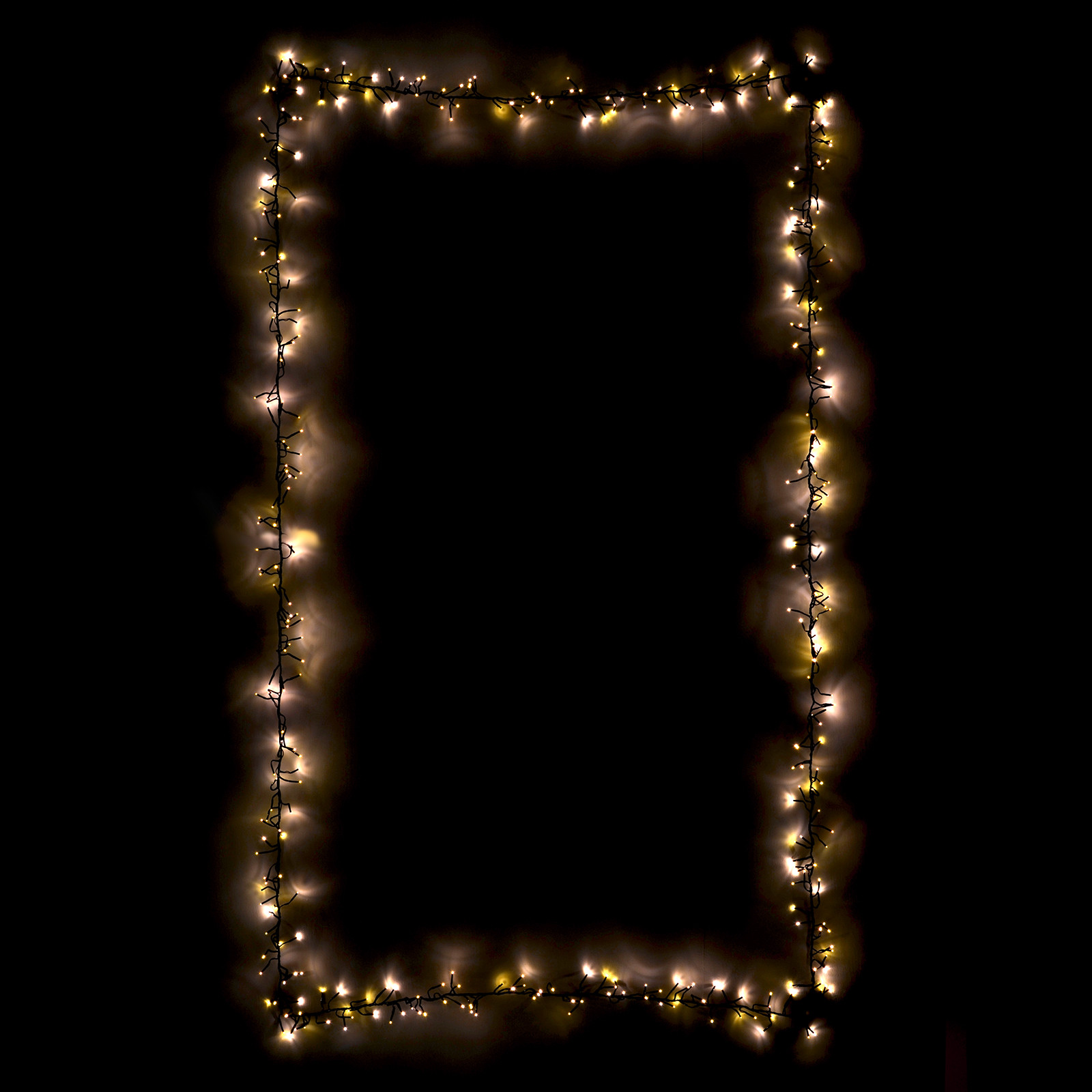 White Indoor Christmas Lights  480 Chasing Cluster Lights Chain String Warm White LEDs