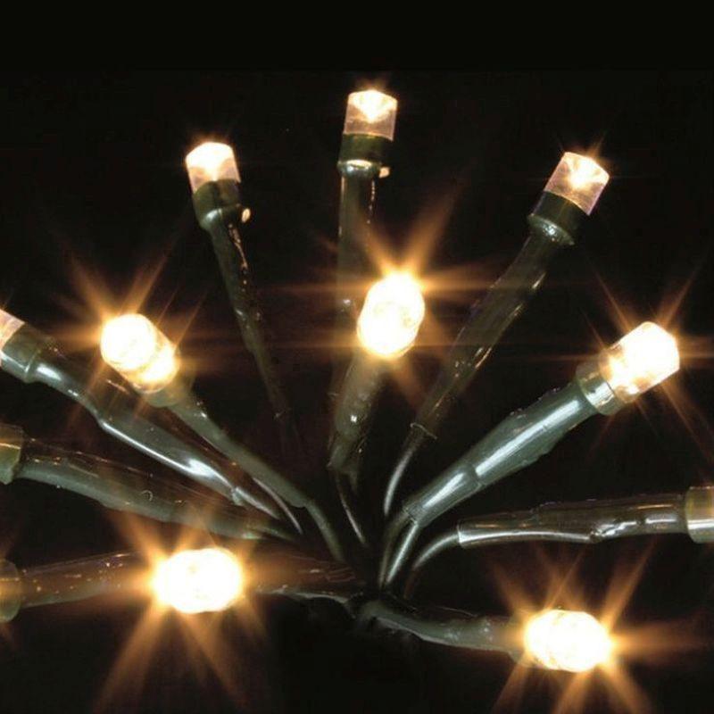 White Indoor Christmas Lights  600 LED Warm White Indoor Multifunction Christmas Lights