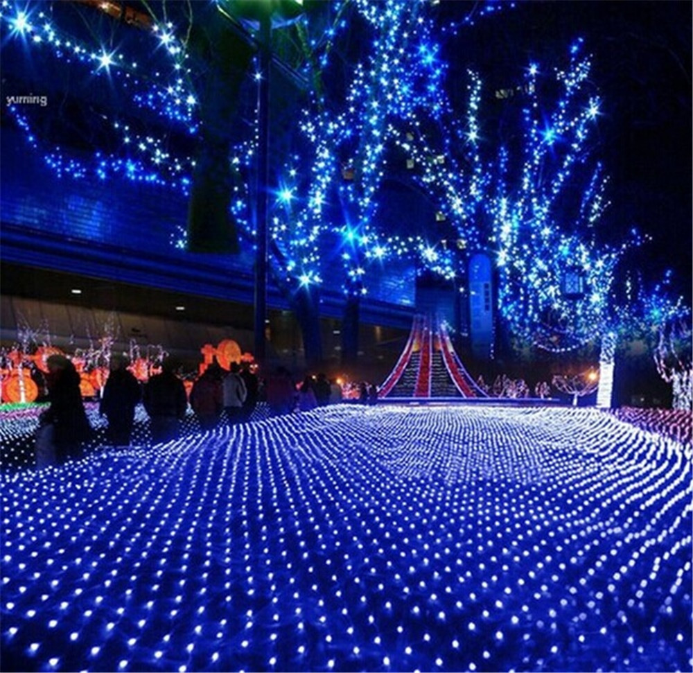 White Indoor Christmas Lights  Kmashi 6Mx4M 672 led Net Lights Warm White Blue RGB White