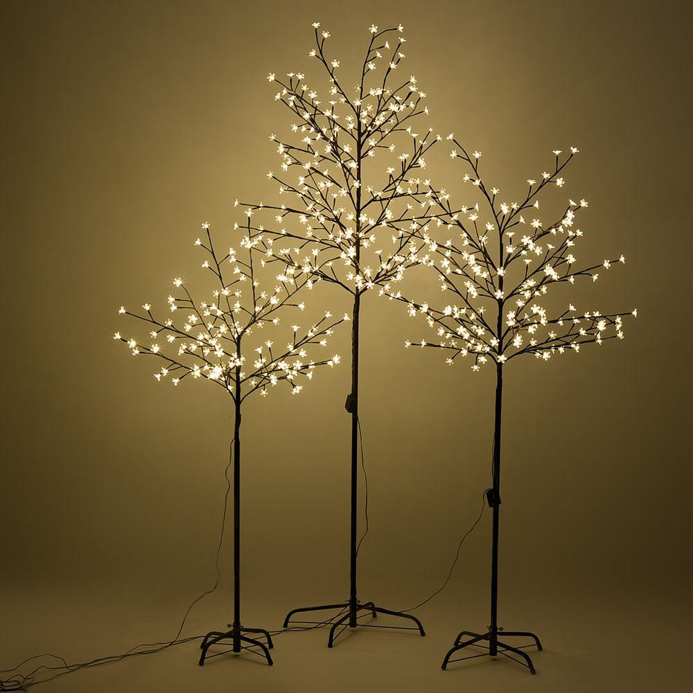 White Indoor Christmas Lights  Warm White LED Lights Christmas Xmas Cherry Blossom Tree