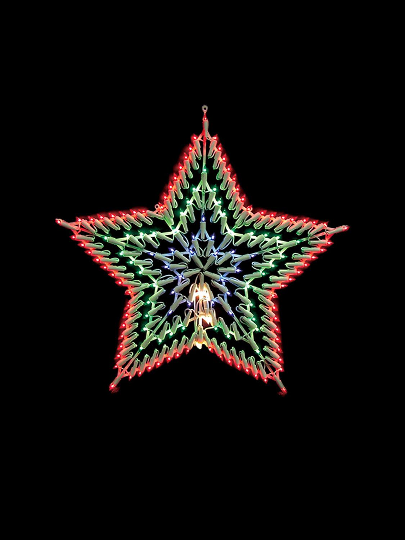 White Indoor Christmas Lights  Christmas Light Shapes Window Snowflake Star Merry
