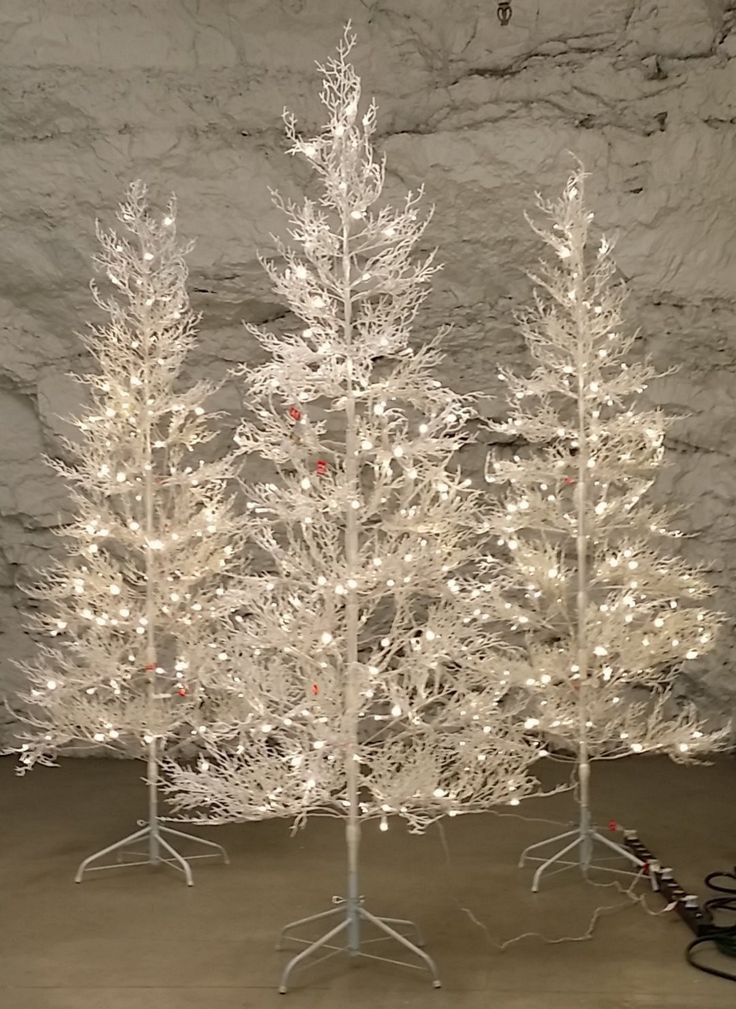 White Outdoor Christmas Tree  The 25 best Pre lit twig tree ideas on Pinterest