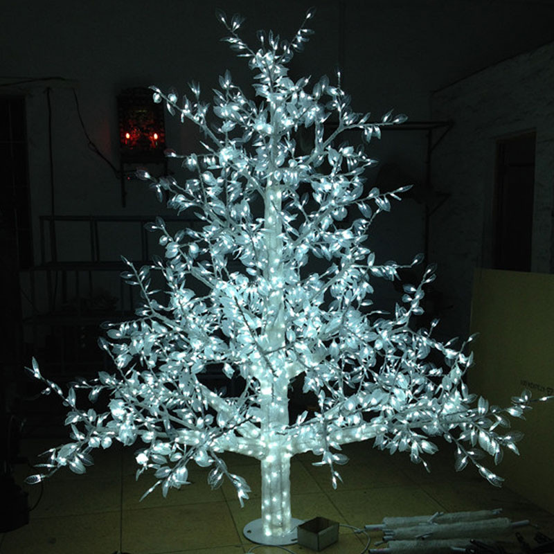 White Outdoor Christmas Tree  Aliexpress Buy 1 5Meter 864LED outdoor lighted