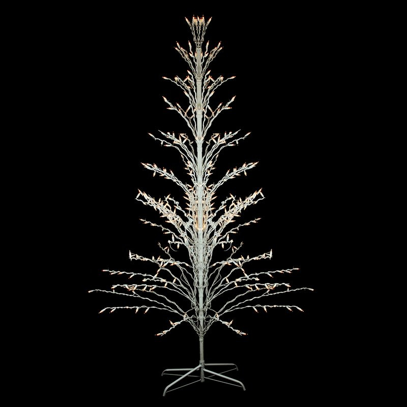 White Outdoor Christmas Tree  Northlight Outdoor Yard Art Cascade 4 White Twig