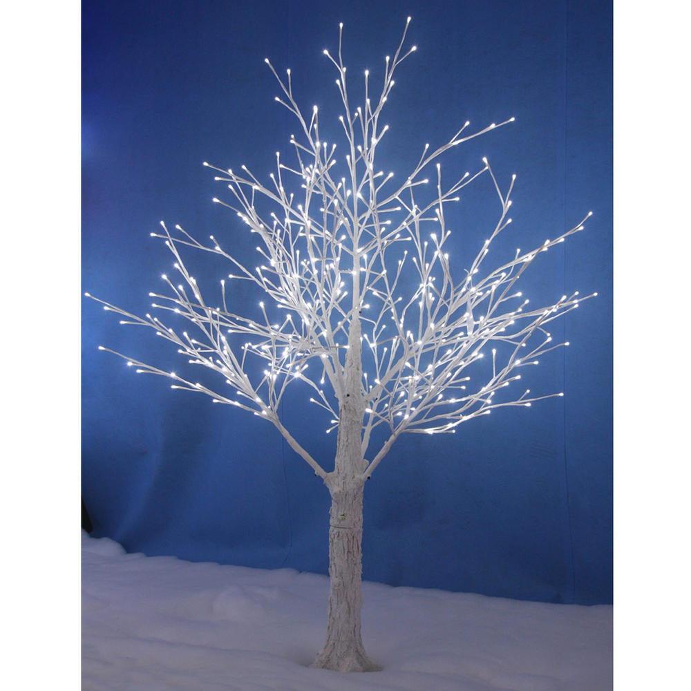White Outdoor Christmas Tree  White Snowy Twig Tree White LED Lights Indoor Outdoor