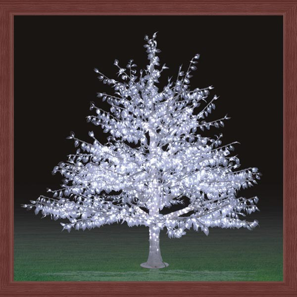 White Outdoor Christmas Tree  Artificial White Outdoor Lighted Trees Landscape Led Tree