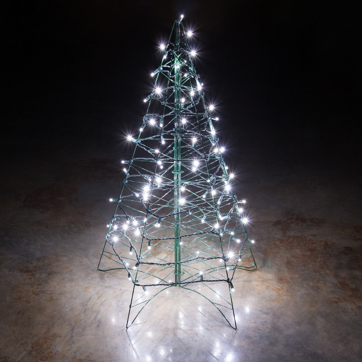 White Outdoor Christmas Tree  Lighted Cool White LED Outdoor Christmas Tree