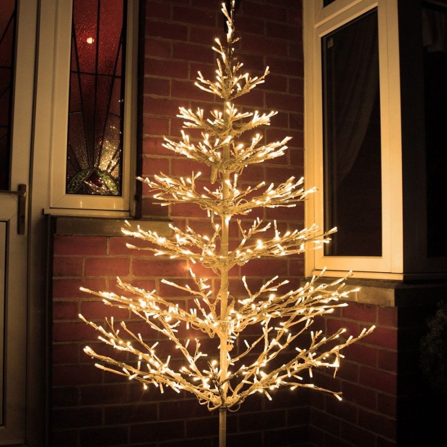 White Outdoor Christmas Tree  Beautiful LED tree