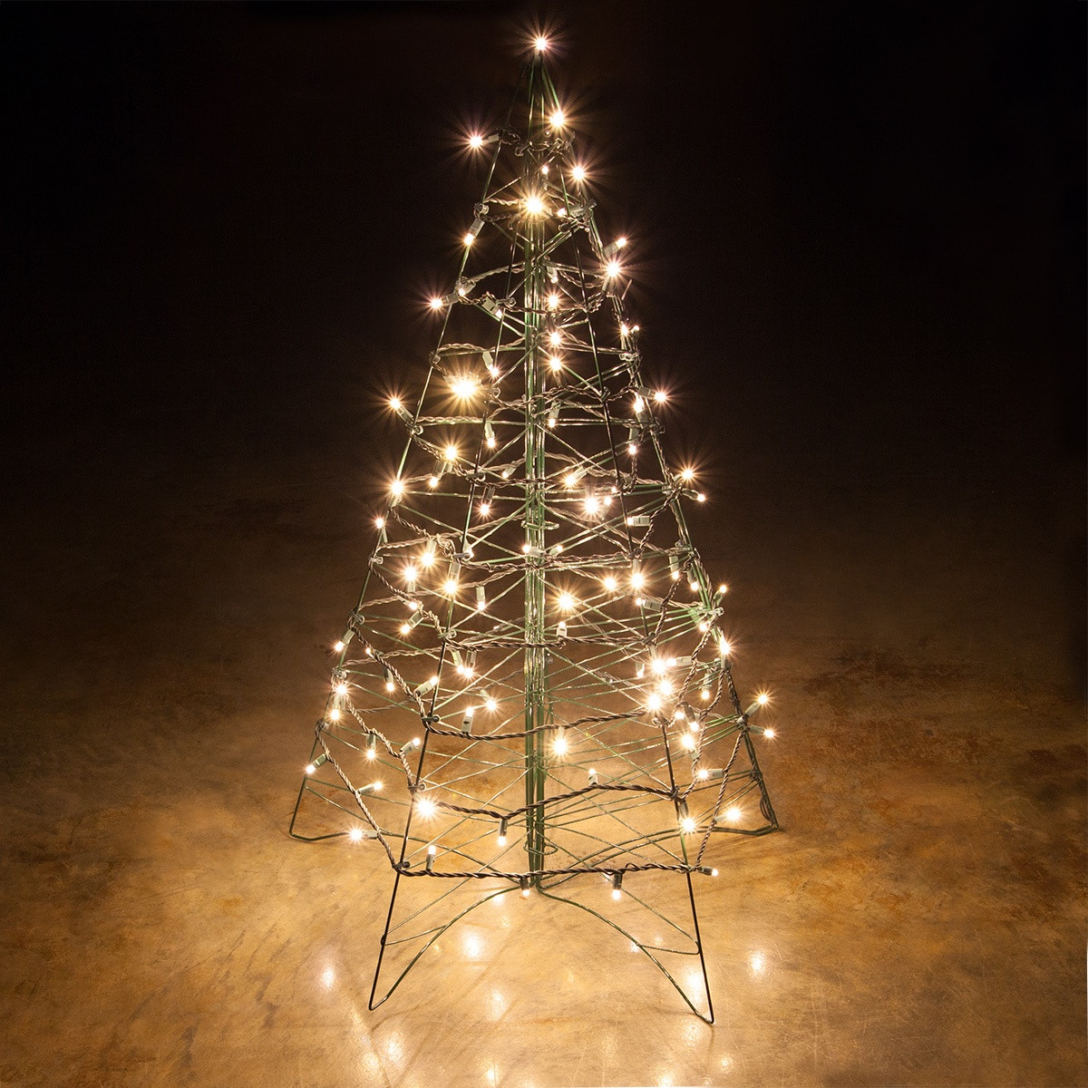 White Outdoor Christmas Tree  Lighted Warm White LED Outdoor Christmas Tree