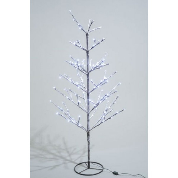 White Outdoor Christmas Tree  Lumineo 90cm Cool White LED Pre lit Outdoor Snowy