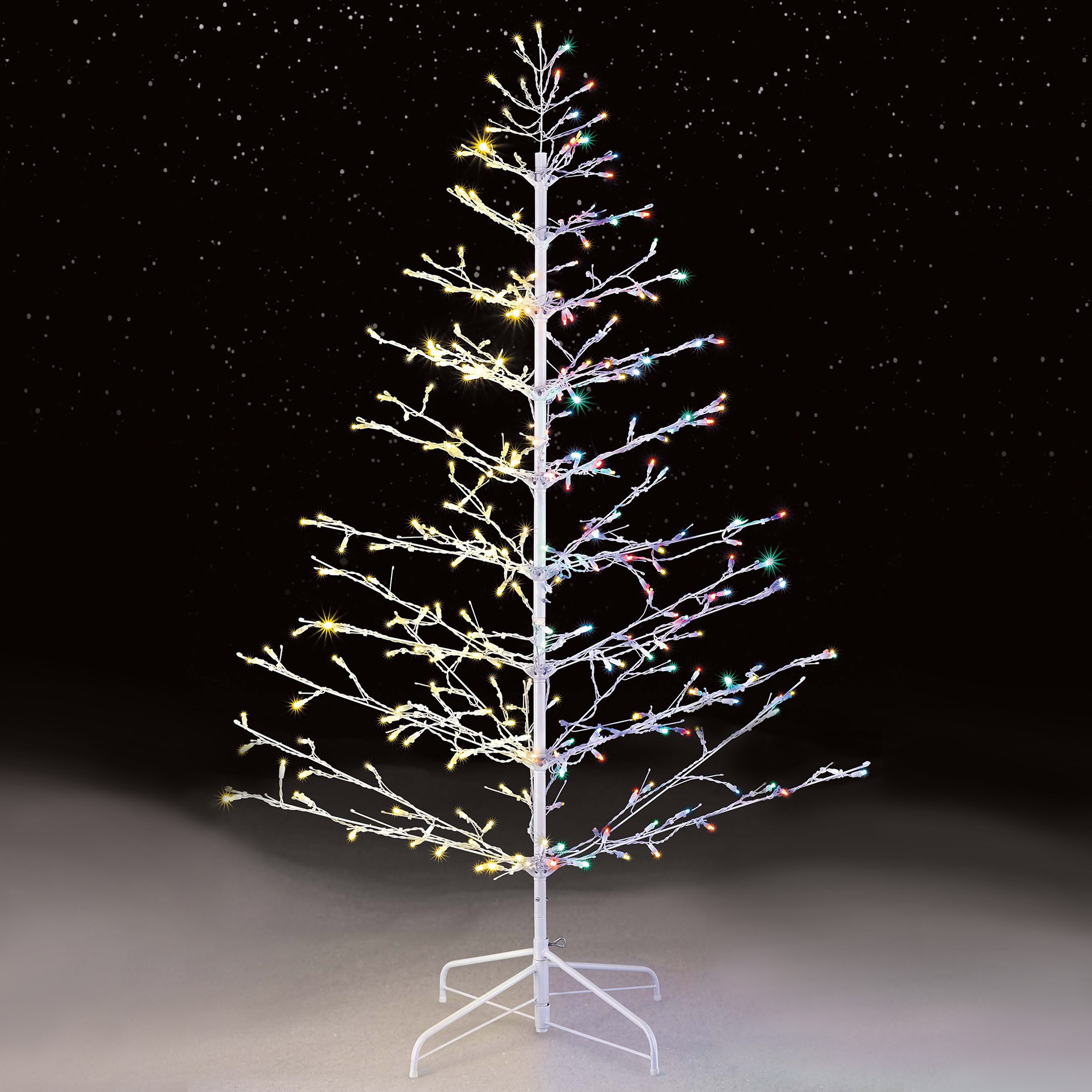 White Outdoor Christmas Tree  Color Switch Plus 6 310L Led Stick Tree