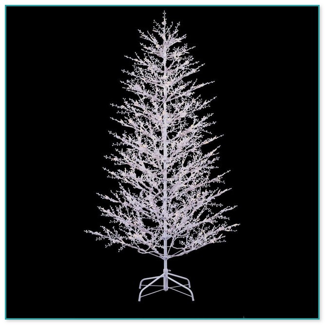 White Outdoor Christmas Tree  White Christmas Lights White Cord