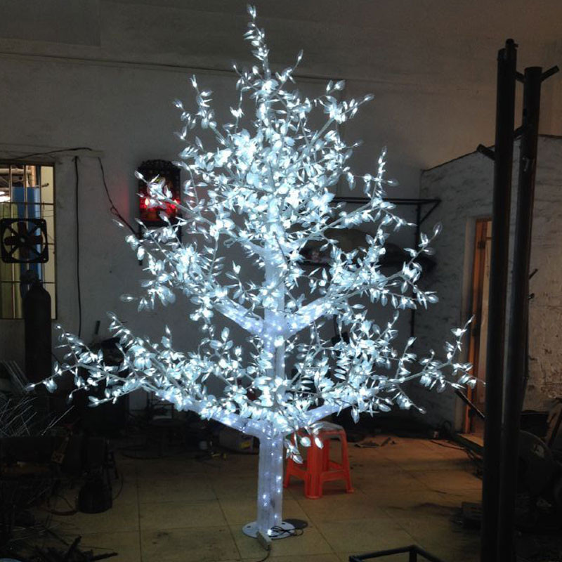 White Outdoor Christmas Tree  2 8Meter 2880LED white color outdoor christmas lights tree