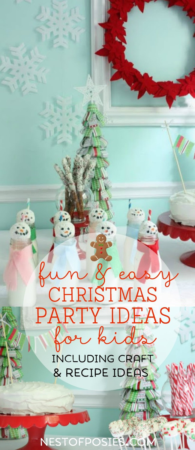 Youth Christmas Party Ideas  Christmas Party Tablescape ideas for kids Nest of Posies