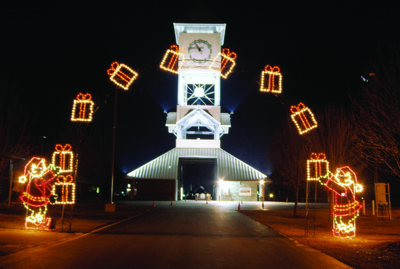Animated Outdoor Christmas Decorations  mercial Lighted Arches for Drive Thru Parks and City
